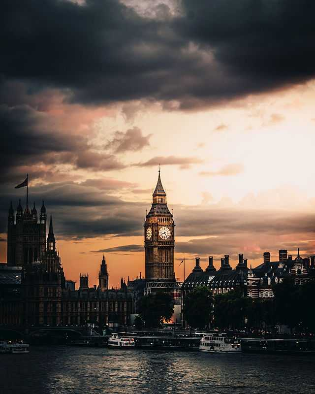 A photo of Big Ben Tower during sunset