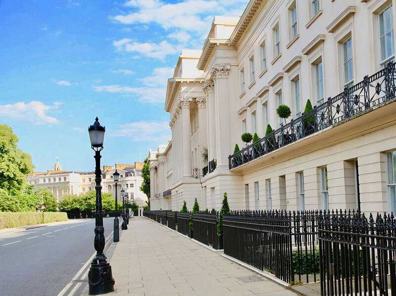 The neoclassical Cornwall Terrace overlooking Regent's Park contains some of the world's most expensive property.